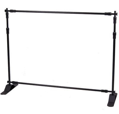 3.6ft-8ft Width 3ft-8ft Height Adjustable Step And Repeat Advertising Banner U