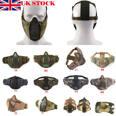 Moto Bike Airsoft Half Face Breathable Mesh Mask Tactical Equipment