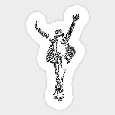 Michael Jackson Dance Draw Art Sketch Vinyl Decal Sticker for Laptop Car Bumper