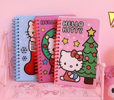 Super Cute 3pcs Hello Kitty Daily Weekly Planner Spiral Notebook (60 Sheets/pc)