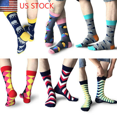 New High Quality Mens Socks Fashion Combed Cotton Sock Animal Novelty Casual SOX
