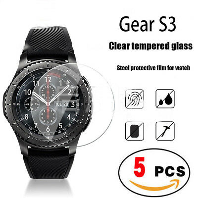 For Samsung Gear S3 Frontier / Classic Tempered Glass Screen Protector [5-PACK]