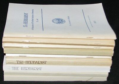 Vintage Issues of THE HERBALIST~ 9 Issues No. 41 - 51