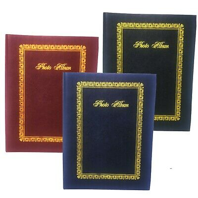 "Tallon 6"" X 4"" Photo Album Plain With 200 Pockets Black,Blue,Burgundy Valentine"
