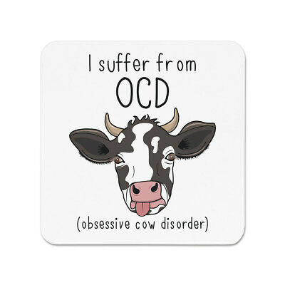 Cow OCD Sports Drinks Bottle Camping Funny Joke Obsessive Cow Disorder