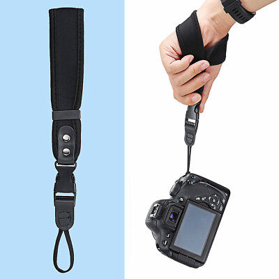 Camera Hand Wrist Grip Strap Adjustable Leather For Canon Nikon Sony SLR/DSLR
