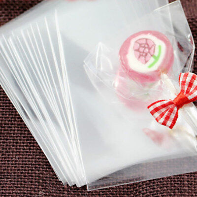 100Pcs Transparent Kraft Paper Bags For Candy, Cookies, Doughnut, Crafts, Party