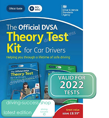 Official DVSA Theory Test Kit 2020 EDITION - 2 DISCS -THEORY & HAZARD - PC & MAC