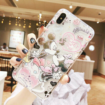 Cute Disney Minnie Mickey Phone Case Cover For iPhone X XS Max XR 6 7 8 Plus