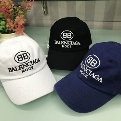70ad474a113 NEW Baseball Cap Balenciaga² BB Embroidery strapback adjustable hat vintage  golf
