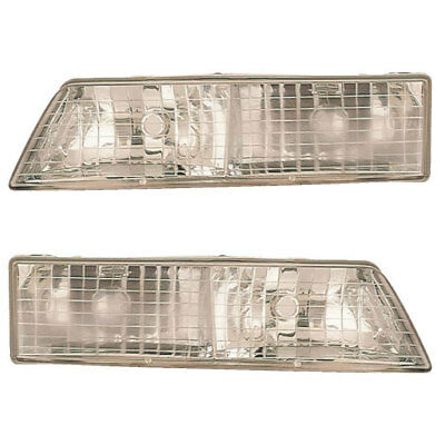 For Mercury Grand Marquis 1995 1997 Pair New Left Right Headlight Embly