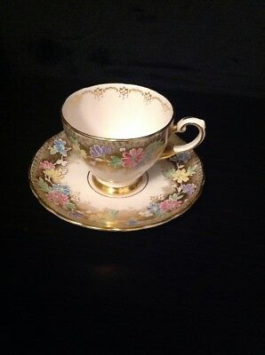 Vintage Tuscan Pink/floral Tea Cup Set Made In England