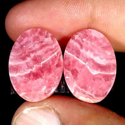 25.10Cts 100% Natural Pink Rhodochrosite Oval Cabochon Loose Gemstone