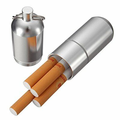 Herb Stash Jar 3 Parts Aluminum Cigarette Case Holder WIth Key Ring Containers