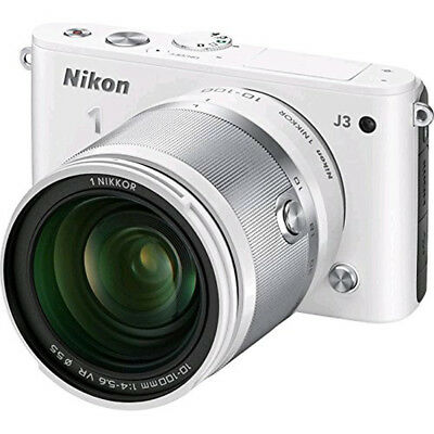 Nikon 1 J3 14.2MP White Digital Camera with 10-100mm VR Lens
