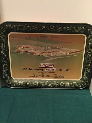 Baldwin Filters 30th Anniversary 1953-1983 Metal Serving Tray