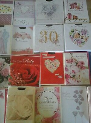 50 Anniversary Cards, Wholesale Joblot Greeting Cards