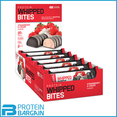 Optimum Nutrition Whipped Bites Protein 12 X 76g Bars No Added Sugar, Low Carb
