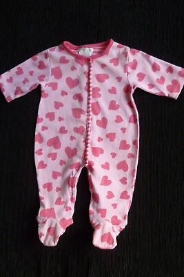 Baby clothes GIRL 0-3m pink/dark pink hearts Pitter Patter babygrow SEE SHOP!