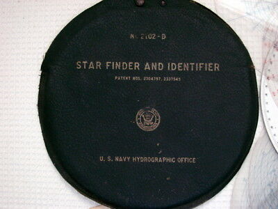 US Navy Hydrological Office Star Finder/10 Identifier templates  Model 2102D