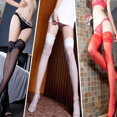 Lace Top Stay Up Thigh High Tights Pantyhose Nightclubs Over Knee Stockings