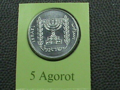 ISRAEL   5 Agorot   1980   UNC  MINT  SET  ,  $ 2.99  maximum  shipping  in  USA