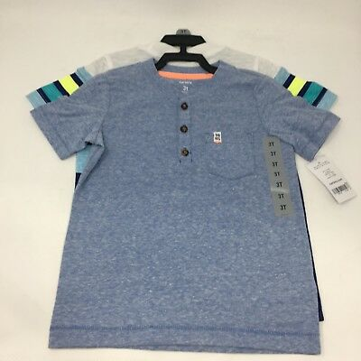 Carter's Baby Boys' Toddler 2 Pieces Short Sleeve Shirt 2T,3T,4T,5T NWT!!