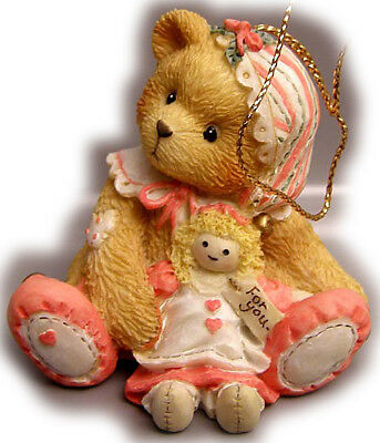 Cherished Teddies-- girl elf with doll (hanging Ornament )- Christmas--625434