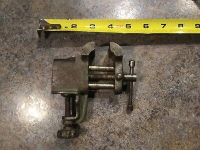 Vintage Antique Cast Iron Metal Steel Clamp On Table/workshop /hobby Small Vise