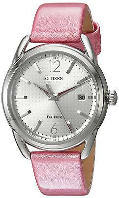 Citizen Eco-Drive Women's FE6080-11A DRIVE LTR - Pink Leather 34mm Case Watch