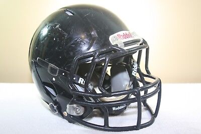 Riddell Youth SPEED Game Used Worn Football Helmet Black Small 2011 4 EXTRAS
