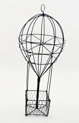 Wire Hot Air Balloon Basket Tall With Small Basket 13 99 Picclick