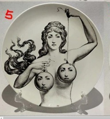 6 Inch Piero Fornasetti Designer Luxury Plates Home Decoration Fashion Milan
