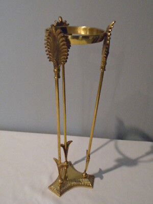 Vintage Brass  Display Stand Holder Crystal Ball  Art Deco Nouveau