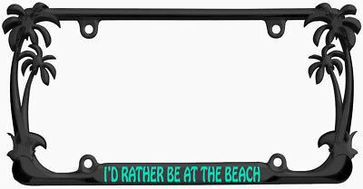 Black License Plate Frame I/'d Rather Be A Werewolf Auto Accessory