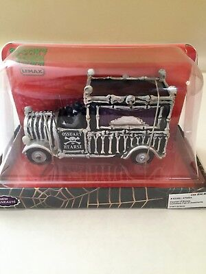 Lemax Spooky Town Halloween HEARSE OF BONES #63266 New in Box 2016