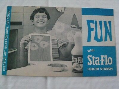 """FUN with Sta-Flo Liquid Starch"""": Vintage 60s Pamphlet, A.E. Staley, Decatur, IL"""