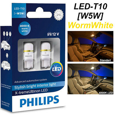 Philips W5W T10 Xtreme Ultinon LED 4000K 360° Car 12V Worm Whit 127994000KX2 12V
