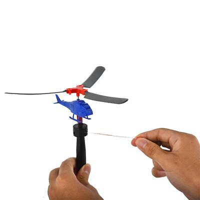 Pull Line Helicopter Airplane Model Outdoor Toys for Child Random Color Delivery