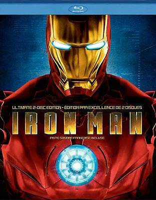 Iron Man (Blu-ray Disc, 2008, 2-Disc Set, Canadian Ultimate Edition French)