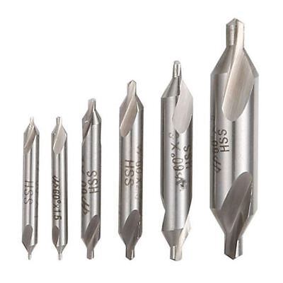 6 PCS HSS Combined Center Drills Bit Set Countersink 60 Degree Angle 5/3/2. N1O2