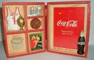 "Vintage Drink Coca Cola In Bottles Carrier Basketball 3.5"" X 5"" Picture Frame"