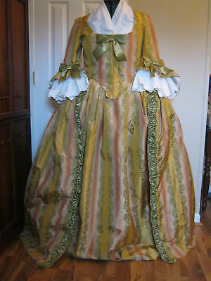 Colonial SIlk Gown and  petticoat sz 18