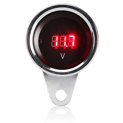 LED Digital Voltmeter For Harley Dyna Softail Sportster Touring Street Glide XL