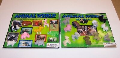 Gumball Machine Vending Header Toy Prize Charm, Two Animal World Display Cards 2