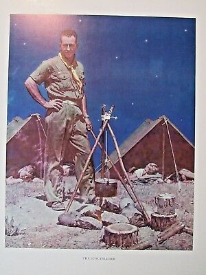 VTG Norman Rockwell BSA Art Print The Scout Master Boy Scouts