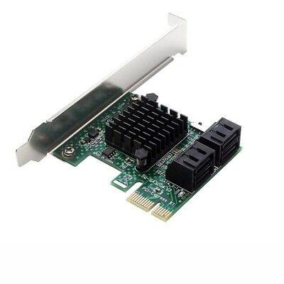 PCIe PCI Express to 6G SATA3.0 4-Port SATA III Expansion Controller Card Broa D6