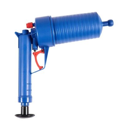 Air Power Drain Blaster gun High Pressure Powerful Manual sink Plunger Open F4V7