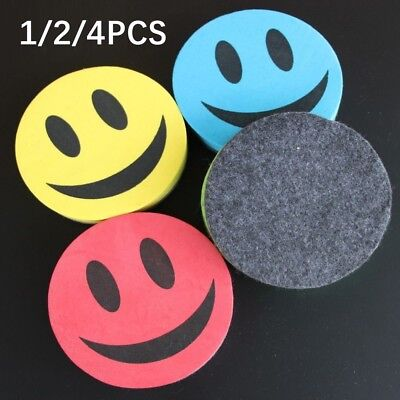 Magnetic Whiteboard Smiley Eraser Wipe Drawing Cleaner School Office Tools