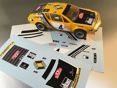 Stickers Pour Alpine Renault A310 #4 Jouef Rallye  (No Decal Ideal Slot) Dcs011